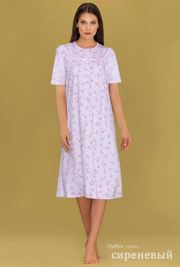 75859 Рубашка средней длины с коротким рукавом Linclalor