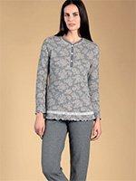 Комплект пижамный (кофта+брюки) 77909 Розы Linclalor