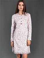 Рубашка ночная средней длины 92059 Цветы Linclalor