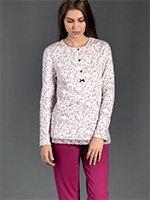 Пижамный комплект (кофта+брюки) 92083 Пионы Linclalor