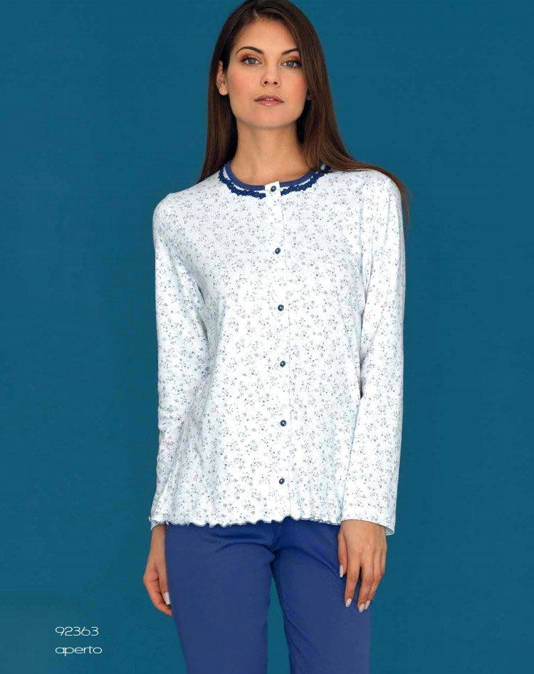 92363 Цветы - пижама (кофта+брюки) Linclalor