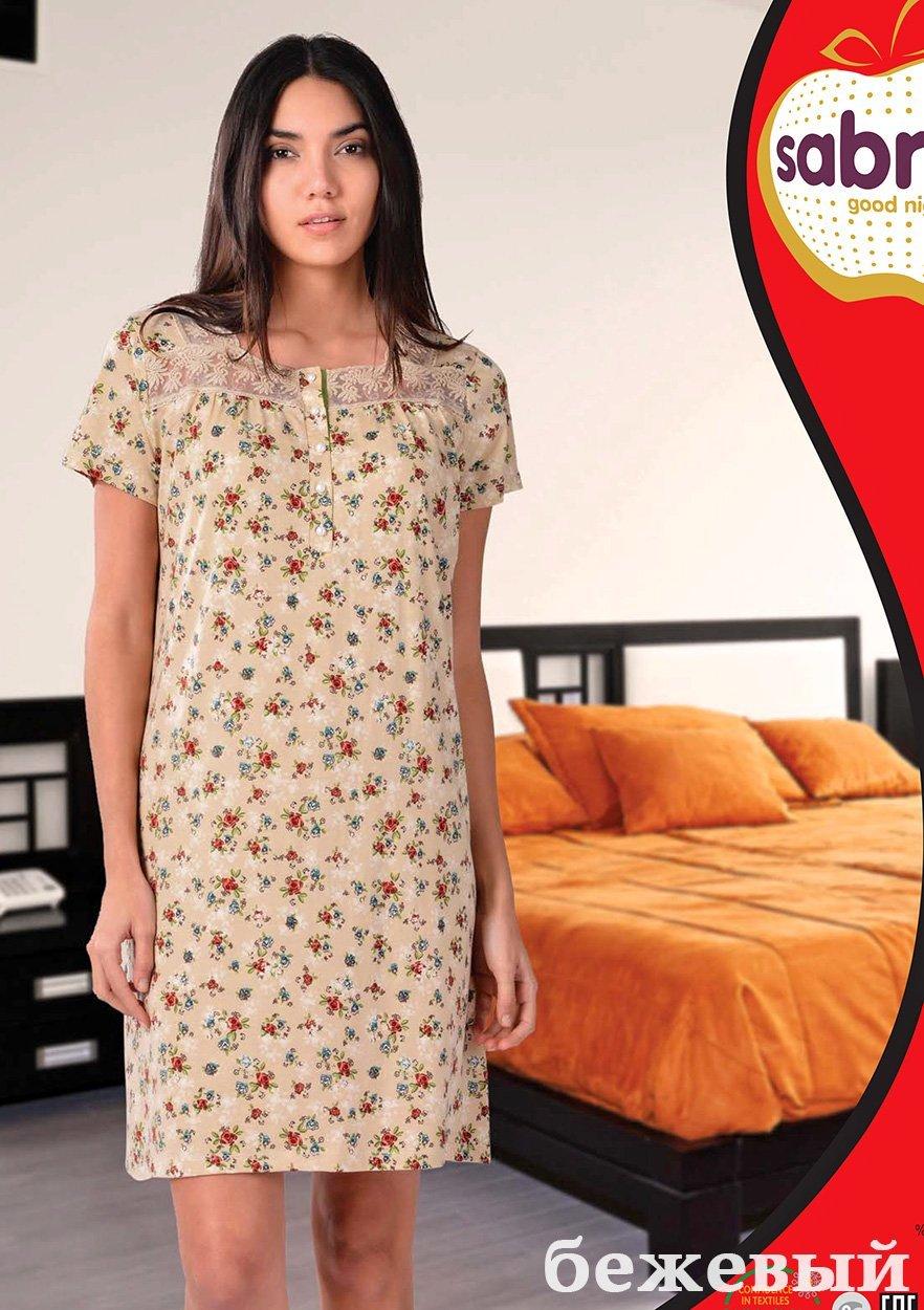 Рубашка ночная средней длины 12569 (22609) Sabrina