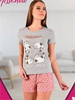 A-413 Коты - комплект (футболка+шорты) Missendo