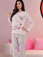Комплект (кофта+брюки) 42803 Бабочки Sabrina