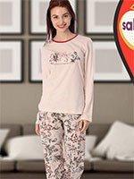 Комплект (кофта+брюки) 42809 Цветы Sabrina