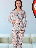 Пижама (кофта+брюки) 42812 Цветы Sabrina