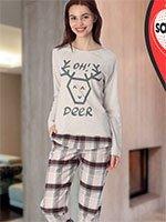 Пижама (кофта+брюки) 42823 Олень Sabrina