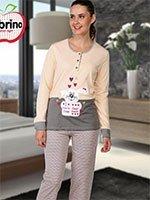Комплект (кофта+брюки) с начесом 45049 Заяц Sabrina