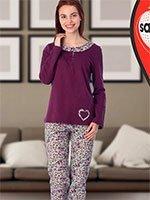 Пижама трикотажная (кофта+брюки) 45805 Цветы Sabrina