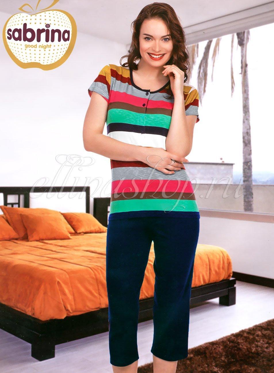 58001 Полоска Комплект (футболка+бриджи) Sabrina