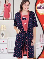 Комплект для кормящих мам (халат, рубашка) 82811 Sabrina