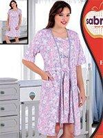 Комплект для кормящих мам (халат, рубашка) 82813 Sabrina