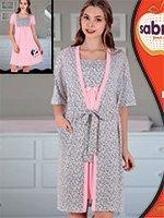 Комплект для кормящих мам (халат, рубашка) 82815 Sabrina