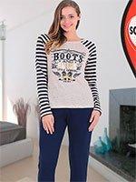 Комплект трикотажный (кофта+брюки) 94801 Ковбой Sabrina