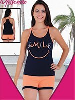 Комплект (майка, шорты) H-413 Smile Missendo