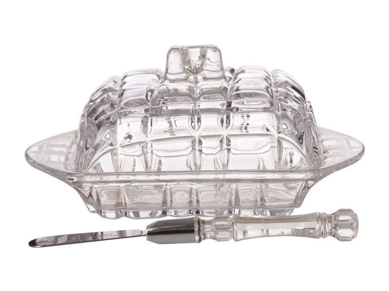 "Масленка 355-024+нож, коллекция ""Муза"", 11*17 см"