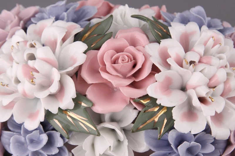 Декоративное изделие «Букет цветов в корзинке», h=12 см - 3