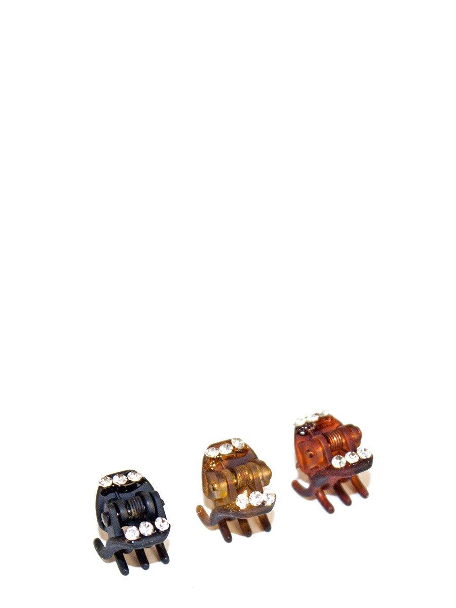 Заколка-крабик малый со стразами 1шт (48936)