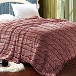 Бамбуковый плед Плетение бордовый