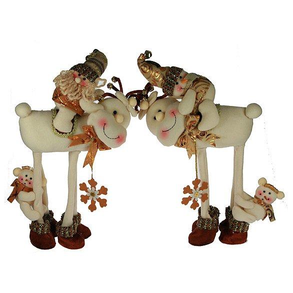 Новогодний сувенир на олене в ассортименте, 175647 (52126)