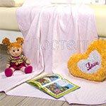 Детское одеяло-покрывало Горизонт бежевый Артпостель