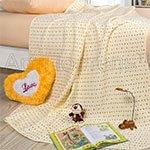 Детское одеяло-покрывало Звездочки желтые Артпостель