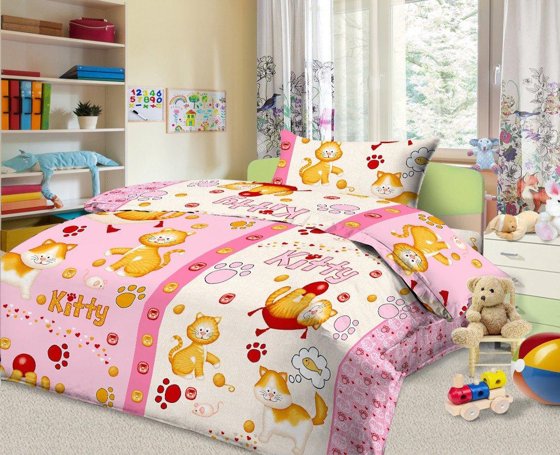 020-BA Комплект белья в кроватку из бязи Cleo