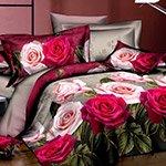 Комплект постельного белья из полисатина 086-PS Cleo