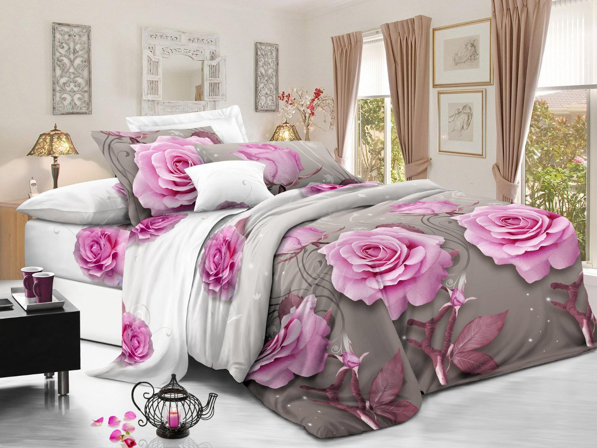 Комплект постельного белья из полисатина 116-PS Cleo