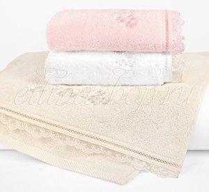 Luna махровое полотенце с вышивкой, органзой Soft