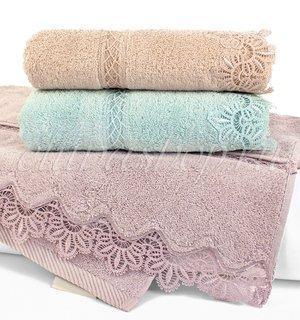Victoria махровое полотенце с кружевом Soft