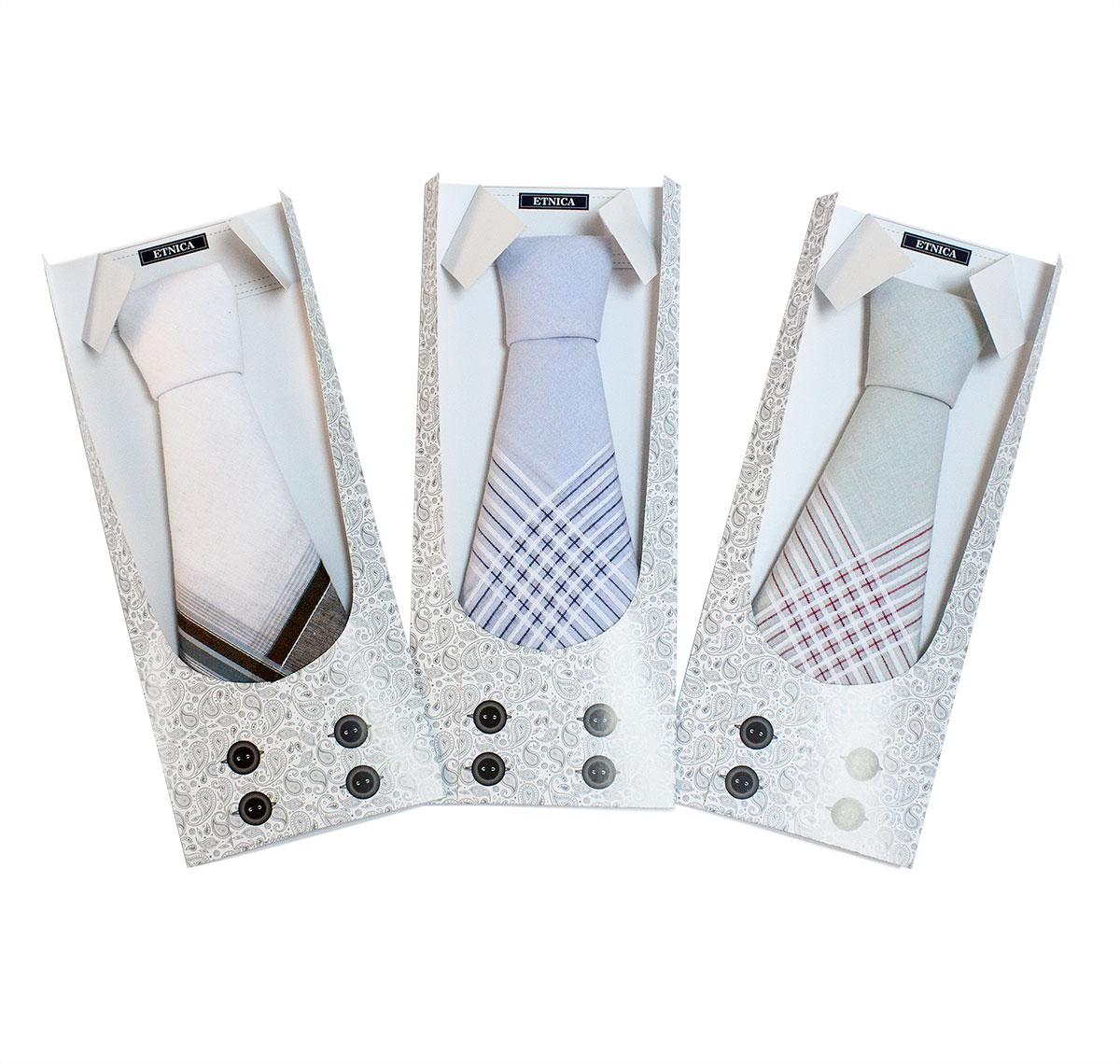 Мужской носовой платок (1 шт) Пс 07-1 Жилетка в подарочной упаковке, в ассортименте