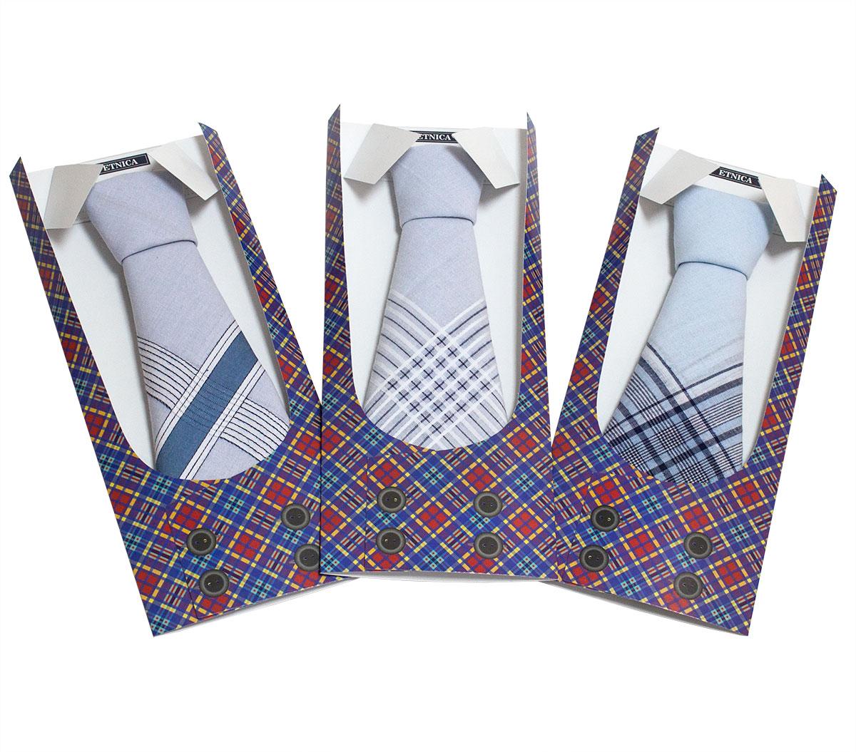 Мужской носовой платок (1 шт) Пс 07-3 Жилетка в подарочной упаковке, в ассортименте