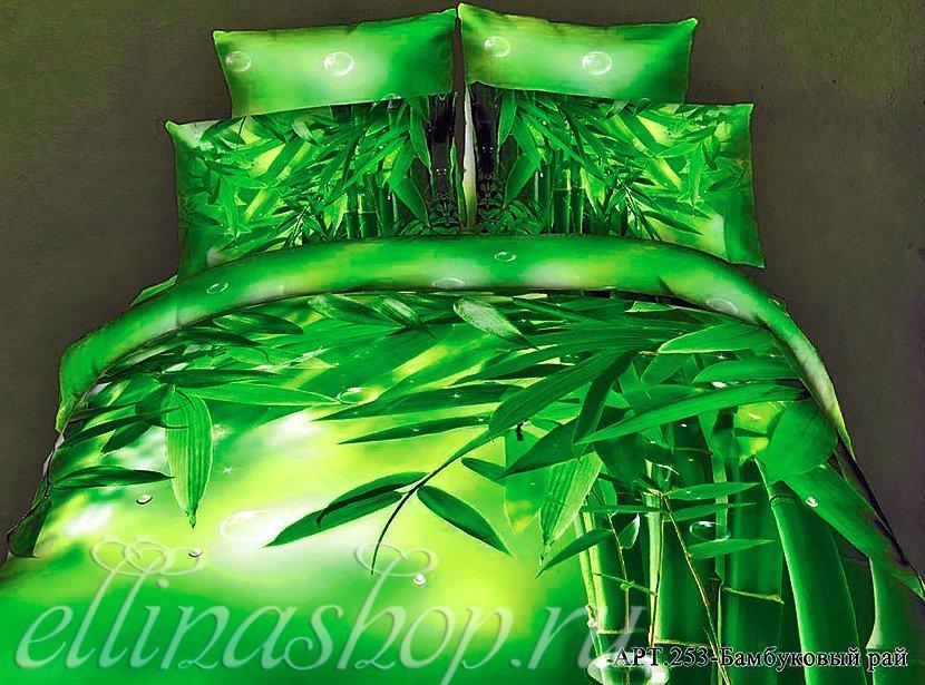 253 Бамбуковый рай - сатиновый комплект белья Afrodita