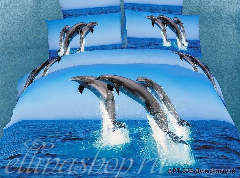258 Дельфинарий - сатиновый комплект белья Afrodita