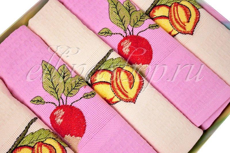 Фрукты цветные комплект вафельных полотенец Koza