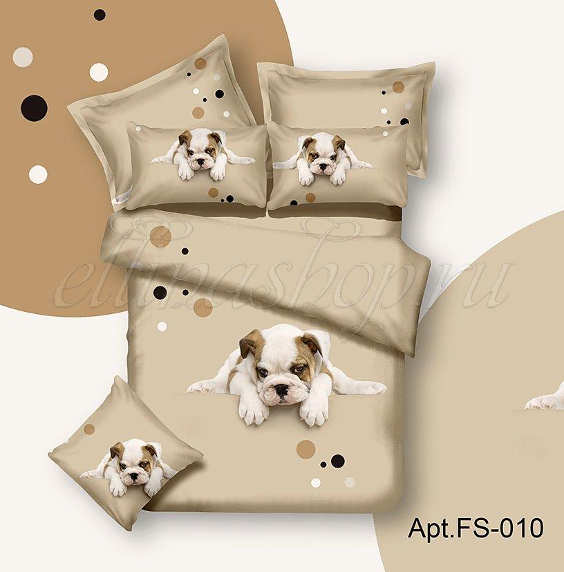 Собачка сатиновый комплект белья Afrodita