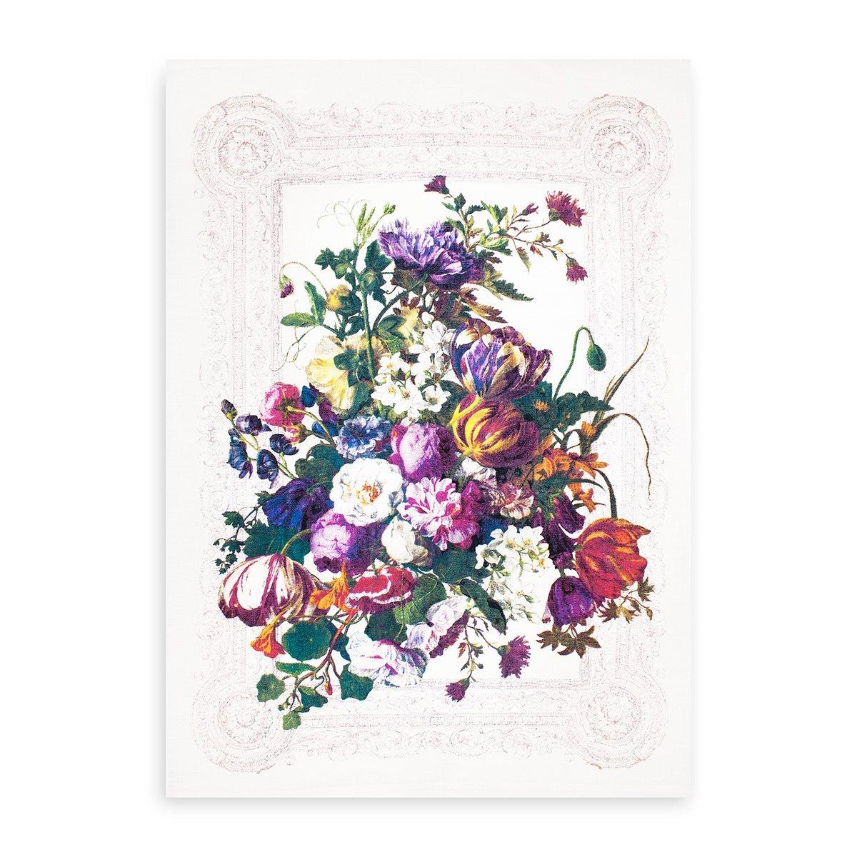 Полотенце льняное (50x70) 09с93 Цветочный натюрморт