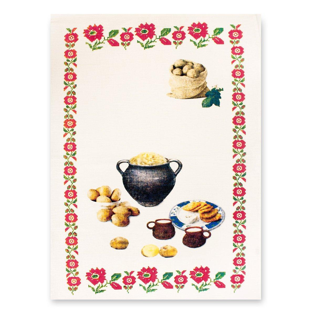 Полотенце льняное (50x70) 10с594 Драники