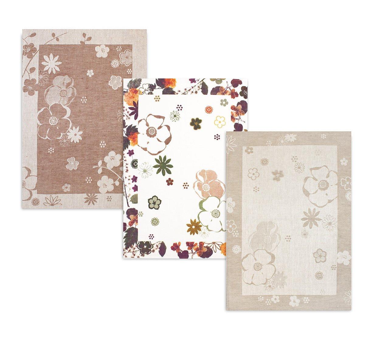 Комплект полотенец 3шт (50x70) 15c60 Цветы