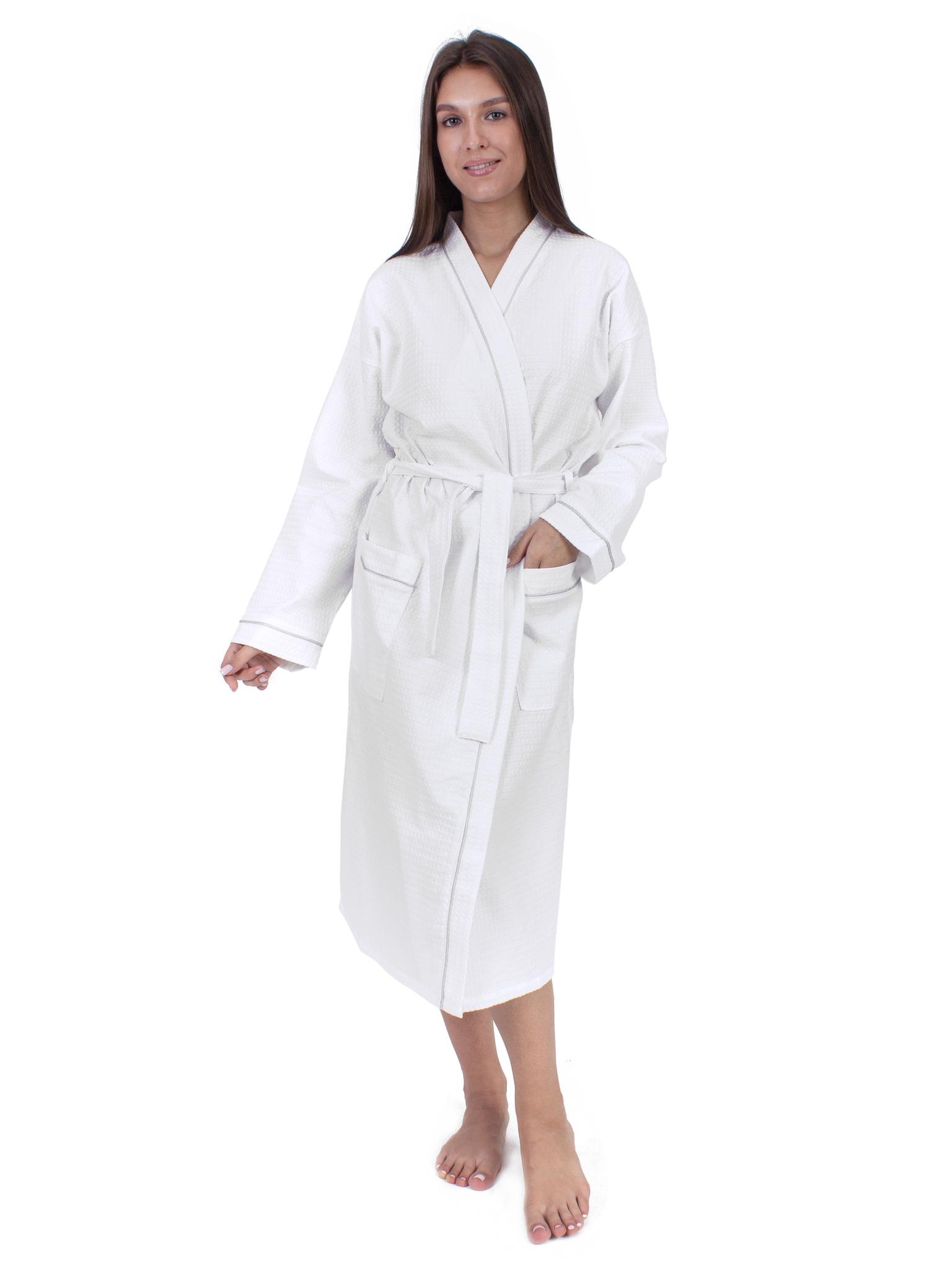 Вафельный халат белый Elintale