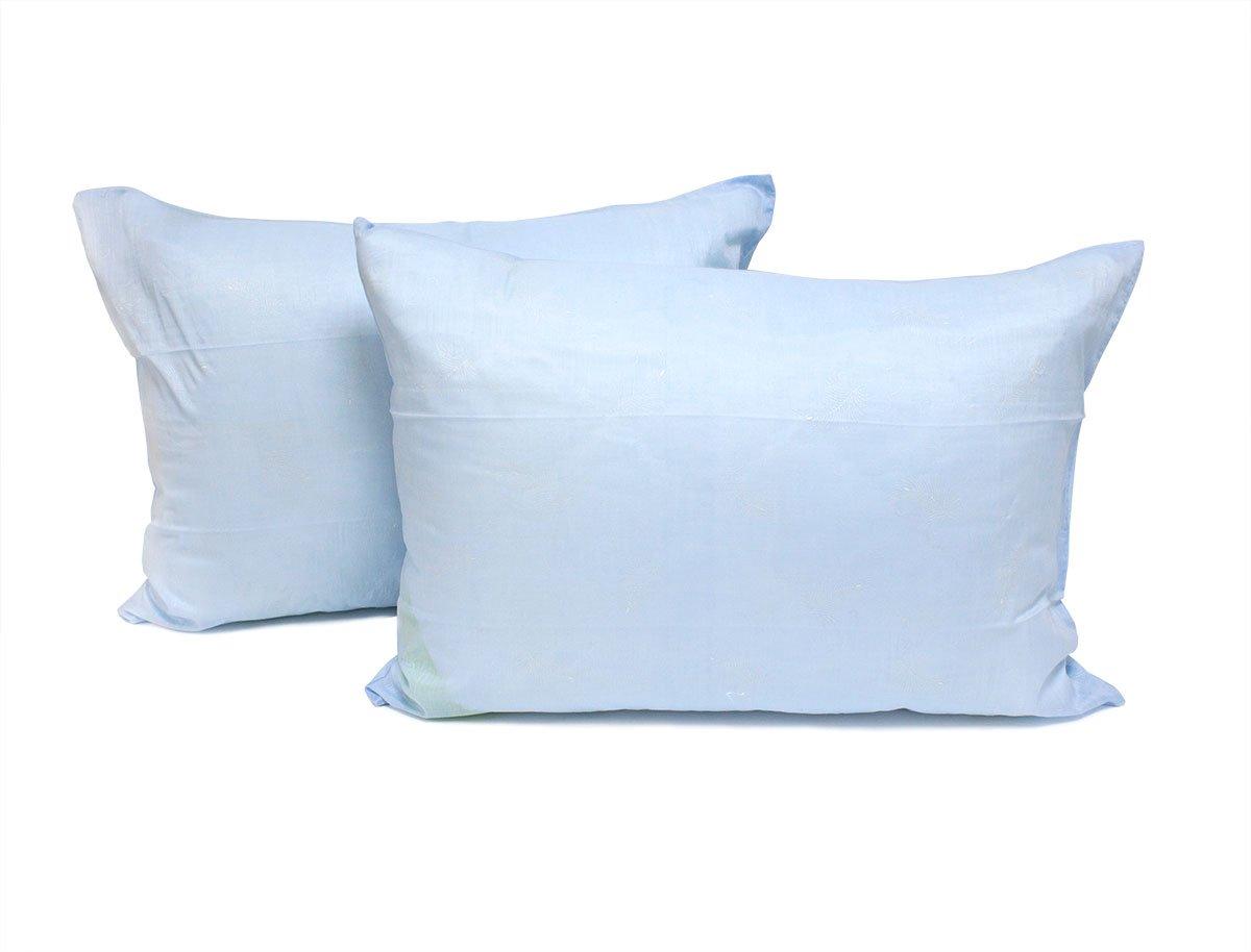 Комплект наволочек из батиста Перышки голубые Elin