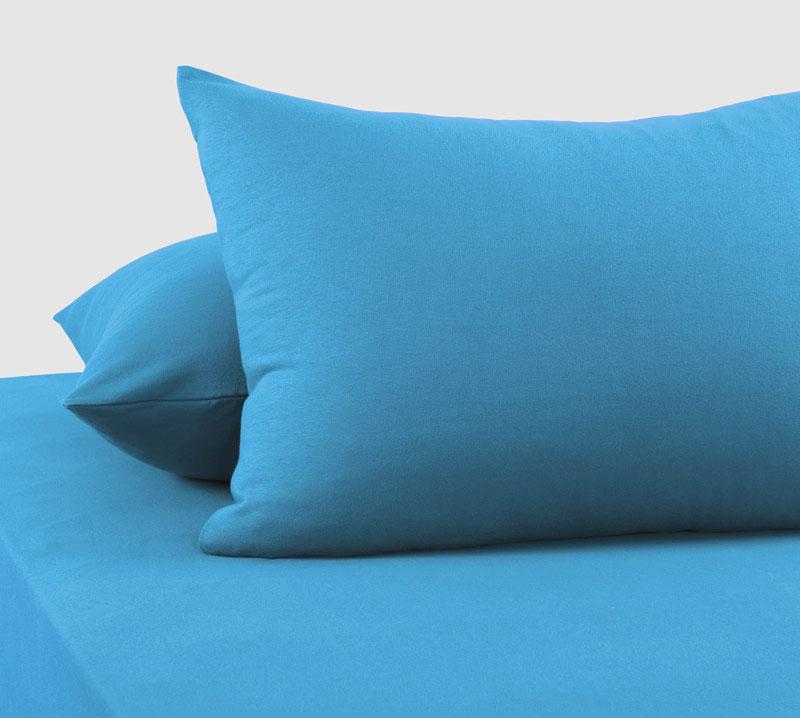 Трикотажные наволочки голубой Elin
