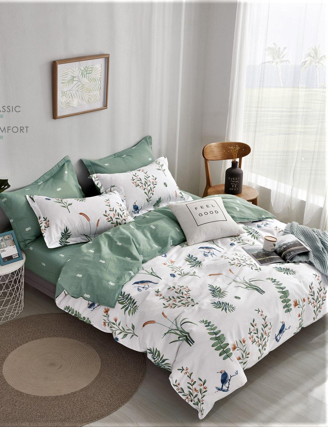 Сатиновый комплект постельного белья PS-202 Elin