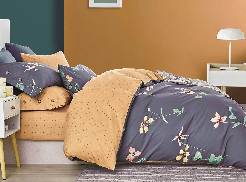 Сатиновый комплект постельного белья PS-214 Elin