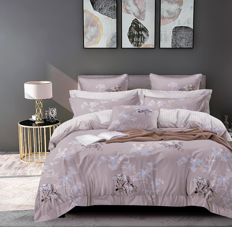 Сатиновый комплект постельного белья PS-222 Elin