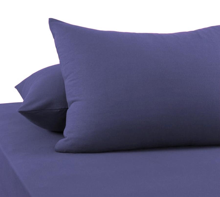 Наволочки из сатина PSO-014 серо-синий Elintale