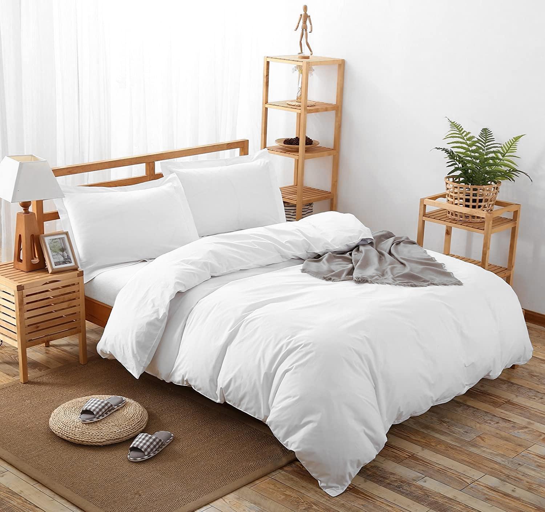 Сатиновое постельное белье SGL-001 белый Elin