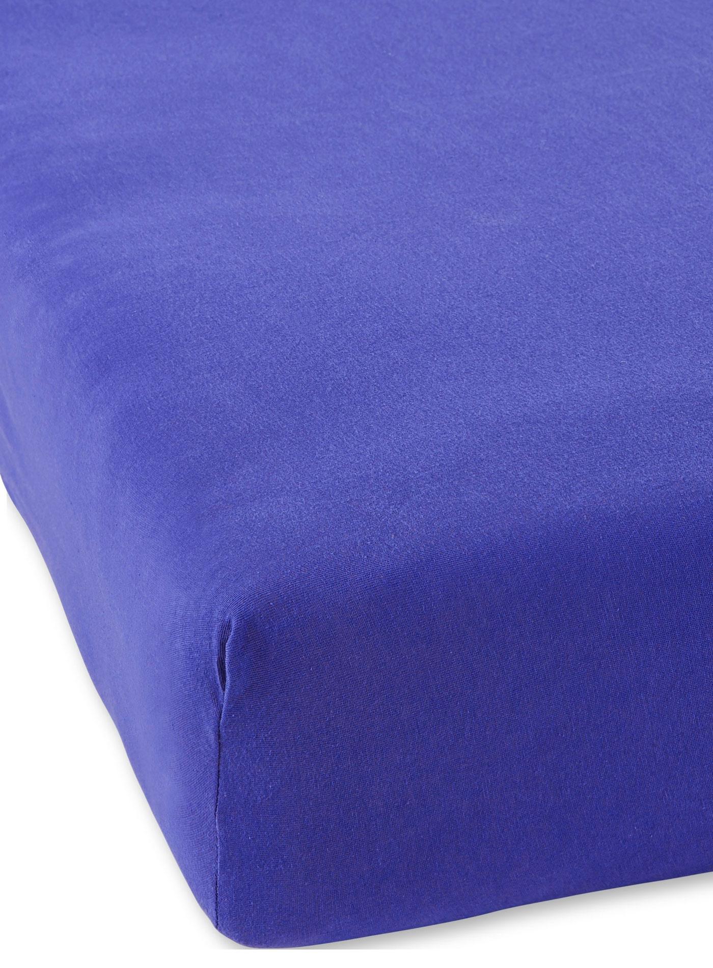 Простыня из трикотажа на резинке светло-синий Elin