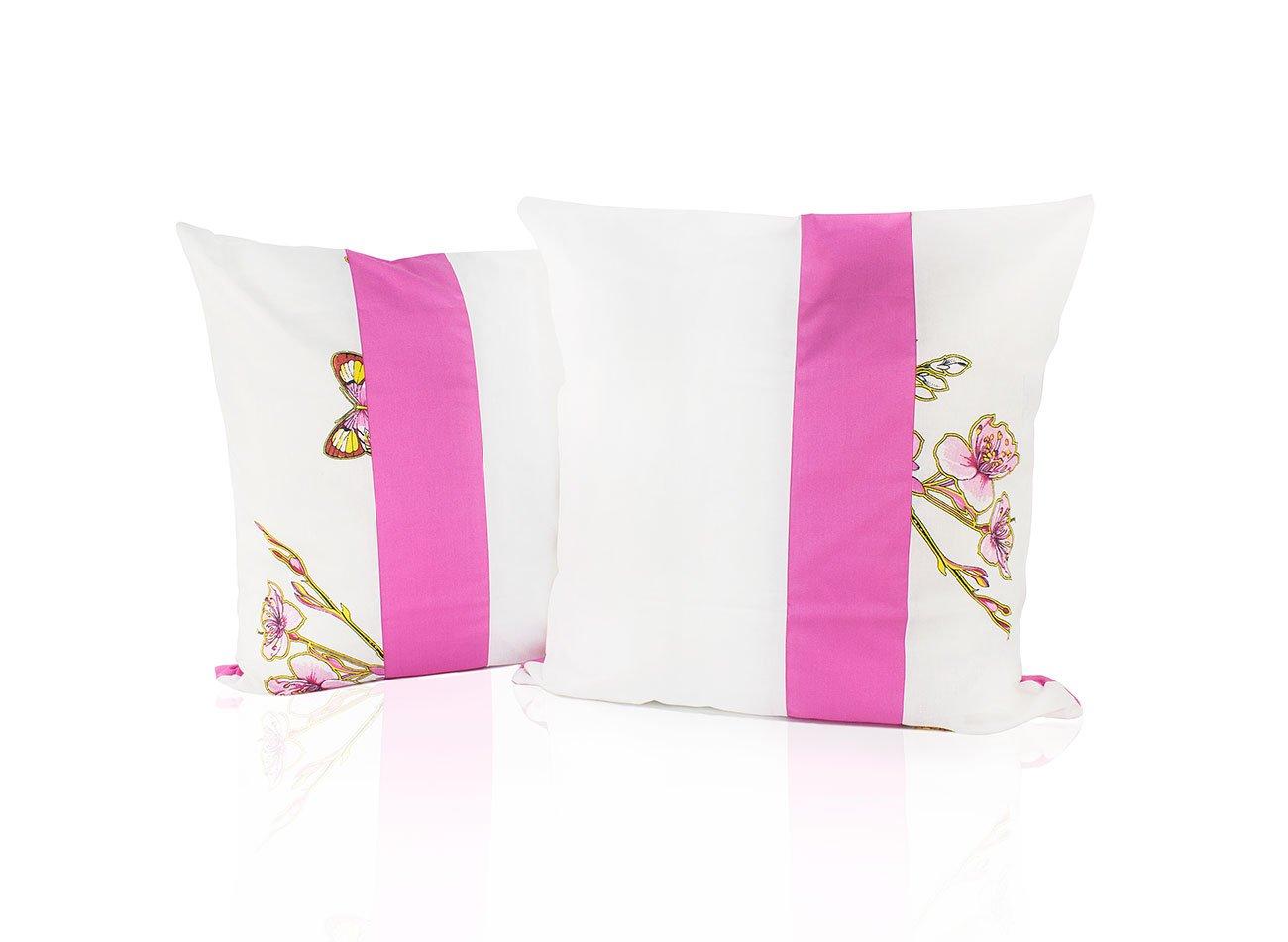 Комплект наволочек из бязи Бабочки-3 комби белый-розовый Elin